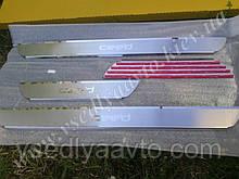 Защита порогов - накладки на пороги KIA CEED 5-дверка с 2006-2012 гг. (Premium)
