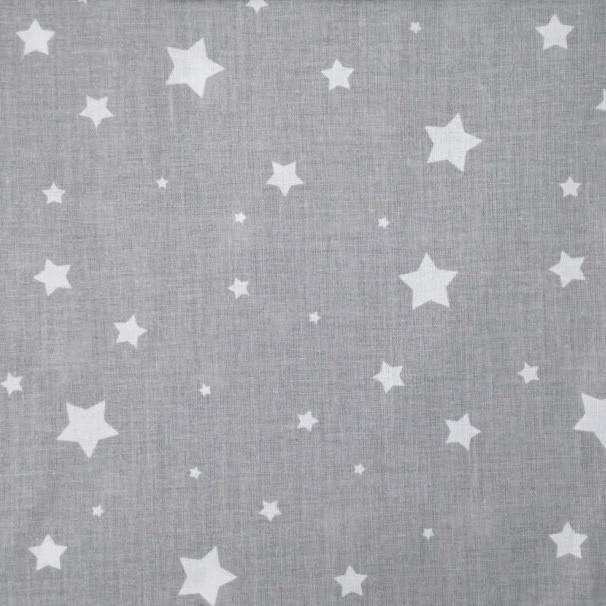 ✁ Отрезы поплина Звездочки разных размеров на сером