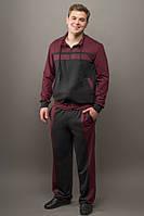 Мужской спортивный костюм Стивен (бордовый)