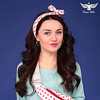 Повязка для волос с красными звездами, фото 1