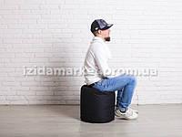 Пуфик кресло бочек черного цвета