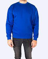 Свитшот синий унисекс под печать, JHK T-shirt , Испания, промо одежда, размеры XS - 2XL