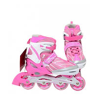 Ролики детские Profi Roller (35-38) Розовые, фото 1