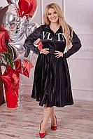 Платье женское VLTN с плиссированной юбкой, коттон сатин. Размеры-42-44,46-48,50-52только 46-48
