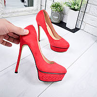 Туфли женские под Casadei красные 6739, фото 1