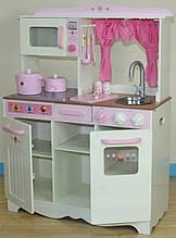 Дитяча дерев'яна яна ігровва кухня з аксесуарами RETRO COOKER LONG (W10C058)