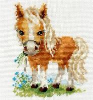 Набор для вышивки крестом Алиса 0-114 Белогривая лошадка