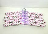 Набор объемных мягких вешалок для одежды сатин 38см.(набор 5 шт.), фото 5