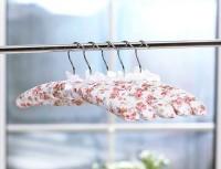 Набор объемных мягких вешалок для одежды сатин 38см.(набор 5 шт.)