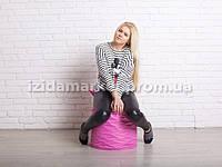 Пуфик кресло бочек розового цвета