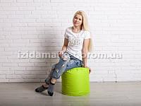 Пуфик кресло бочек салатового цвета