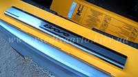 Защита порогов - накладки на пороги Fiat BRAVO с 2007- (Premium)