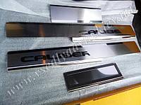 Защита порогов - накладки на пороги Dodge CALIBER с 2006- (Premium)