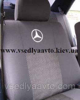 Авточехлы Mersedes 124 (цельные спинка и сиденье)