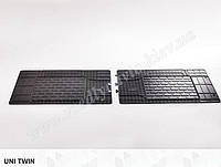 Коврики универсальные резиновые в салон UNI TWIN (1550х450) 2-й и 3-й ряд сидений