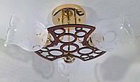 Люстра потолочная на 3 лампочки (21х42х42 см.) Золото YR-6136/3, фото 1