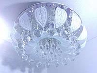 Люстра потолочная с цветной LED подсветкой с пультом (23х50х50 см.) Хром YR-2166/500, фото 1