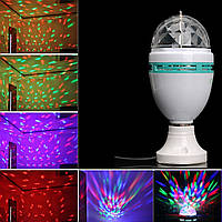Диско лампа LASER Rotating lamp,вращающаяся светодиодная диско лампа, фото 1