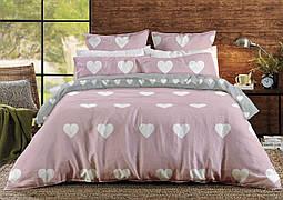 Белье постельное Евро ТЕП Ranforce Pink Love Hearts
