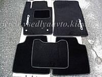 Ворсовые коврики в салон Тойота Camry v40 с 2006-2011 гг. (Черные), фото 1