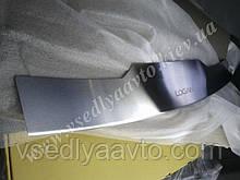 Накладка на бампер с загибом для Renault Logan MCV с 2013 г. (Nataniko)