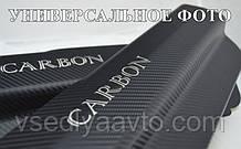 Защита порогов - накладки на пороги Seat IBIZA V 5-дверка с 2017 г. (Carbon)