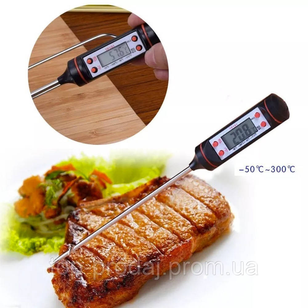 Термометр для еды TP 101, Термометр электронный для кухни и для еды, Пищевой термометр, Термометр щуп-игла