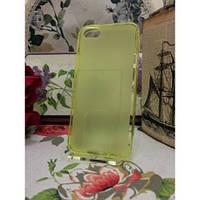 TPU Матовый силиконовый чехол iPhone 5/5S Желтый