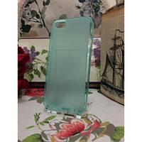 TPU Матовый силиконовый чехол iPhone 5/5S Бирюзовый