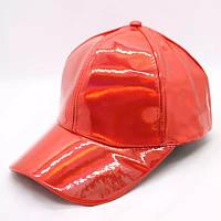 Кепка бейсболка Блестящая Голограмма Красная, Унисекс, фото 1