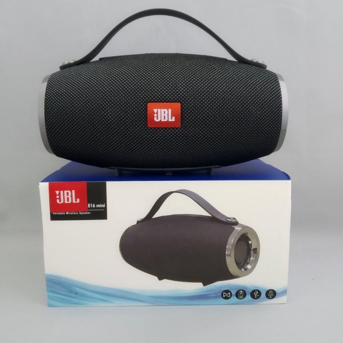 Портативна bluetooth колонка спікер JBL E16 mini FM, MP3, радіо Темно-Сіра