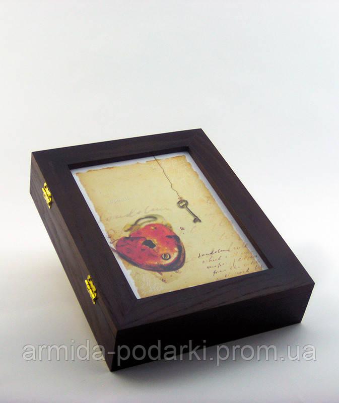 "Настенная ключница ""Сердце и ключ"", размер 21х26 см - Армида-подарки в Запорожье"