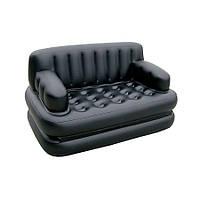 🔝 Надувной диван трансформер 5 в 1 Sofa Bed (Софа Бед), Черный, с доставкой по Киеву и Украине | 🎁%🚚