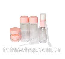 🔝 Дорожный набор емкостей, Розовый, пластик.Это, Набор емкостей для путешествий | 🎁%🚚
