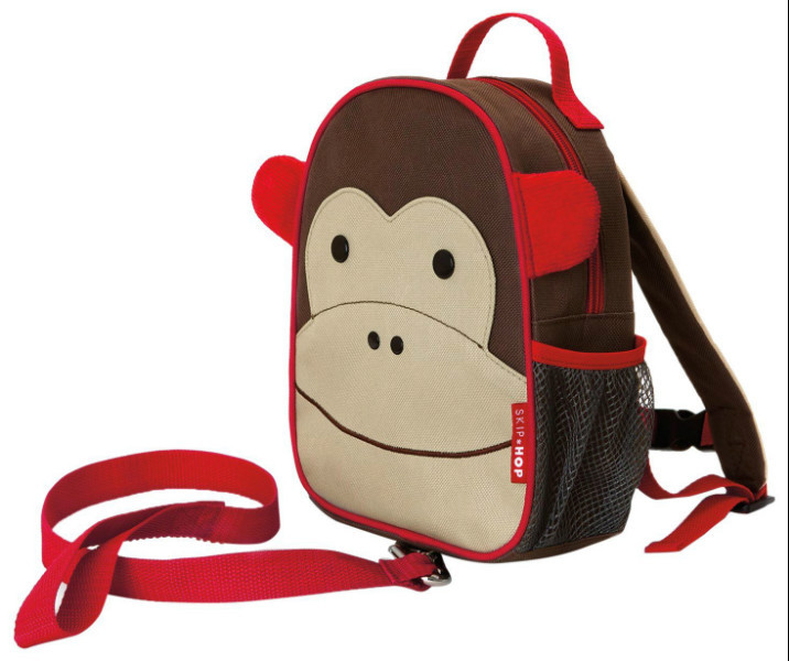 Skip Hop Zoo Мини рюкзак с родительским ремешком Обезьяна Monkey Safety Harness Backpack SKIP HOP 09420, фото 1