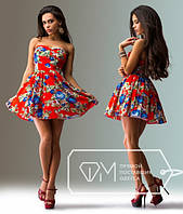 """Стильное молодежное платье мини """" Цветы пиксель """" Dress Code, фото 1"""