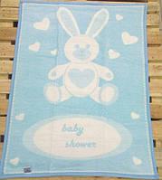 Детский плед-одеяло Zeron зайка baby голубой