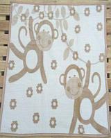 Детский плед-одеяло Zeron обезьянки кофейный