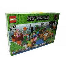 "Конструктор 4 в 1 ""My World Minecraft"", 414 деталей ZM628"