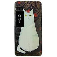 Чехол с рисунком Printed Silicone для Meizu Pro 7 Кошка