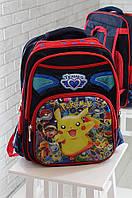 Рюкзак школьный темно- синий 37 х 30 х 13 см 1112-1