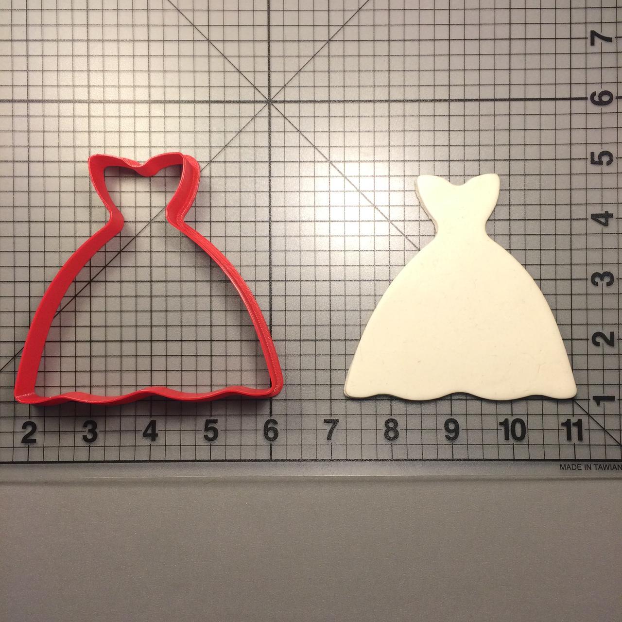 Каттер сукню. Пластикові вирубки. Вирубка під замовлення. Різаки для пряників.