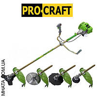 Бензокоса ProCraft T4200 PRO (3 ножа (40Т победит, 3Т, 8Т) и 1 катушка-леска) штанга 28см