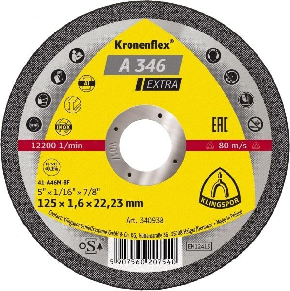 Відрізні круги Kronenflex® EXTRA A346EX/S/GER/125X1,6X22,23
