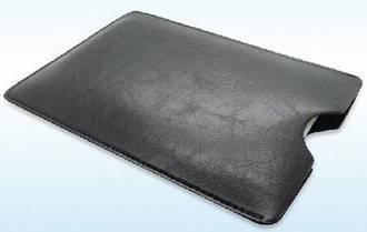 """Кожаный универсальный чехол для планшета 7""""  черный"""