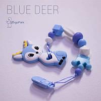 Грызунок из пищевого силикона BABY MILK TEETH Blue Deer