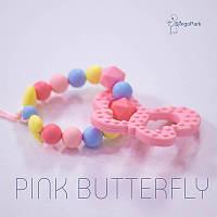 Силиконовый браслет BABY MILK TEETH Pink Butterfly