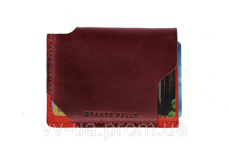 Картхолдер Grande Pelle Piccolo, бордо с красным, кожа (30416160)