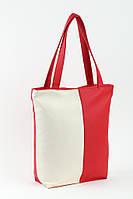 Сумка Комби красно-белая вертикальная, фото 1