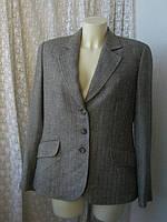 Пиджак женский теплый вискоза шерсть бренд Burberry Оригинал!!! р.50-52, фото 1